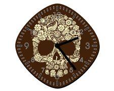 Flower Skull - Wall Clock