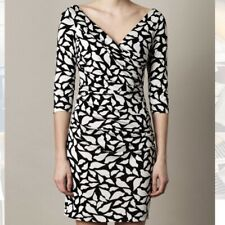 Diane Von Furstenberg DVF Bentley Lips Silk Jersey Mini Dress DVF SIZE 12