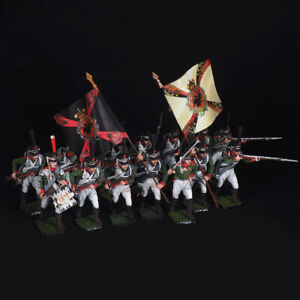 Tin soldier, Set of Moscow Grenadier Regiment (14 miniatures) 54 mm