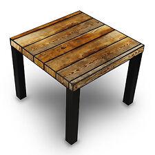 Stubentisch Holzbretter origineller quatratisch Holz Bild Neu exklusiv  Balken