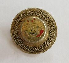 Vintage damascene hat brooch