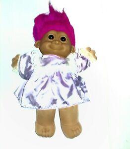 "Russ Berrie Troll Kidz Doll 12"" 2325 Purple Dress"