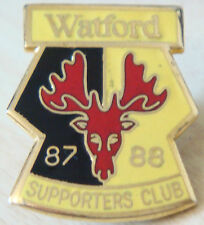 WATFORD FC 1987-88 SUPPORTERS CLUB Badge Maker REEVES Brooch pin 25mm x 30mm