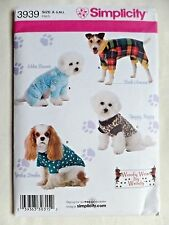 SIMPLICITY CRAFT PATTERN 3939  JACKETS  DOG CLOTHES SIZES S M L  UNCUT