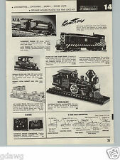 1957 PAPER AD Kemtron Model Railroad Baldwin Diesel Locomotive Wen Mac Alco