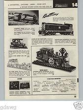1957 PAPER AD Kemtron Model Railroad Baldwin Diesel Locomotive Wen Mac Alco