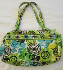 Vera Bradley Quilted Handbag Purse Tote Bag Green & Yellow