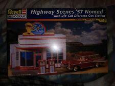 Revell Monogram Highway Scenes 1957 Nomad With Die Cut Diorama 1:24 Model Kit...
