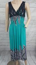 Aqua blue boho black lace white ruched waist stretchy maxi summer beach dress
