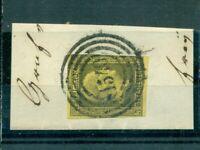 Preussen, Friedrich Wilhelm IV. Nr. 4 gestempelt Nr. 1540 auf Briefstück