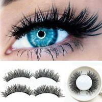 Double Magnetic Eyelashes 3D Reusable False Magnet Eye Lashes Extension UK Stock