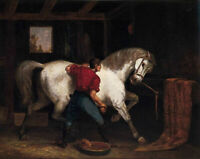 CHENPAT1115 man with animal horse 100% hand painted oil painting art on canvas