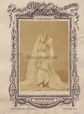 Jeanne-Marie Actrice Théâtre Lyon FranceVintage albumine ca 1875