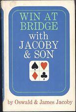 Win At Bridge Oswald & James Jacoby 1966 Hardcover Bidding Vanderbilt Club Trump