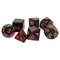 7Pcs Polyhedral Dice Set For Dungeons And Dragons DND D&D MTG RPG Games