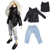 1/3 1/4 BJD SD DD Des Vêtements de Poupée Mini Manteau de Cuir / Jeans / Gilet