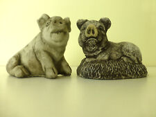 2 Earthenware/Clay Pigs