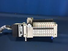 SMC MANIFOLD VQ1101Y & VQ1201Y  W/10 SOLENOID VALVES & SF1 SERIAL UNIT