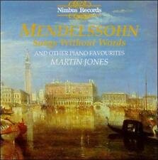 Martin Jones : Mendelssohn: Songs without Words and Oth CD