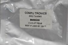 Compu Tronics B9565As Violet Plotter Pens, For Yokogawa Recorders (3 Pack )