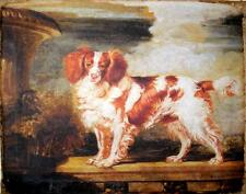 Painting Print On Canvas Ready to Hang King Charles Cavalier Spaniel Dog Rare