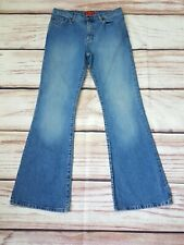 Mens Vintage Ben Sherman Bootcut Stretch Light Blue Faded Jeans W32 L32