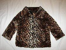Women's Multiples Leopard Print Blazer Jacket - Size S - Soft and Plush
