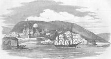 RUSSIA. HMS Miranda destroying Kola, Lapland, antique print, 1854