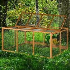 4ft XL Chartwell Rabbit Run Guinea Pig Cage Outdoor Garden Playpen Fence Deluxe