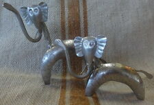 Elephants Quirky Set of 2pieces Nickle Plated 15x15cm