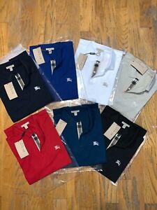 Burberry Brit men's short sleeve  check placket polo shirt s,m,l,xl,2xl,3xl