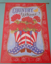 """New listing """"Country Welcome"""" Garden Flag 28"""" X 40"""" By Rain Or Shine"""