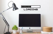 COMPUTER GAME LOADING Vinyl Wall Sticker Decal Retro PS4 XBOX GAMING -17 COLOURS