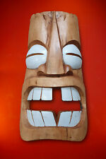 Tiki Wood Mask Hawaii Deco Solid Wall Decoration Luahu Totem Wooden New