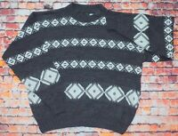 Vintage 80s/90s C&A Cosby Nordic Funky Sweater Jumper Pullover Large