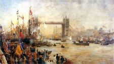 Opening Of Tower Bridge by William Lionel Wyllie Artwork by Selby Prints
