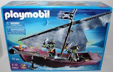 PLAYMOBIL #5901 GHOST SHIP DINGY PLAY SET W/2 GLOW PIRATE FIGURES 51 pcs MIB