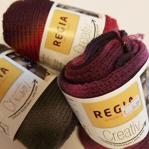 Knitting Yarn ~ Regia Creativ - 100g sock yarn in a scarf ! 75% superwash wool
