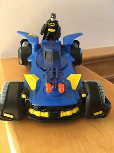 DC Super Friends Batman Batmobile Vehicle Car Imaginext Mattel 2015 With Figure
