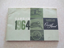 Original 1964 Rambler Classic & Ambassador automobile owner's manual