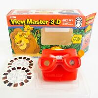 Tyco VIEW-MASTER 3-D Gift Set DISNEY The LION KING Viewer/3 Reels in OPEN BOX
