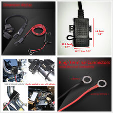 SAE to USB Motorcycle Adapters USB Charger Cable Adapter Extension Wire Fuse 12V