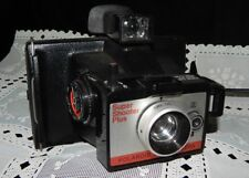 VINTAGE POLAROID LAND CAMERA~SUPER SHOOTER PLUS~w/TIMER~USES FLASHCUBE~COLD CLIP