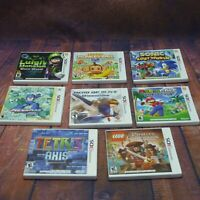 8 x Nintendo 3DS Mario Sonic +More Empty Game Case Boxes with Manuals (NO Games)