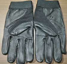Snap On Mechanics Gloves Front Leather palm and finger.Black, Size: Large By SAS