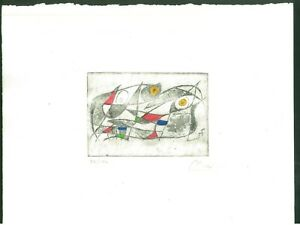 Joan Miro' Old Etching - Hand signed in pencil - rare!!!
