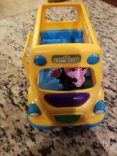 2010 Playskool Sesame Street School Bus Count Von Count Driver Toy! Gently Used