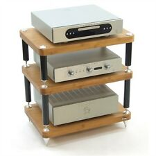 ATACAMA AUDIO UK High End Premium Pro TV HiFi Rack Regal 3 Etagen massives Holz