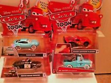 "Disney Cars Toons ""Rescue Squad Mater"" 4 Car Set Tall Tales series RARE Diecast"