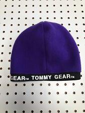 Vintage Tommy Skully Cap Du Rag Fleece Ali G Hat Tommy Gear Hat Vtg 90s Purple